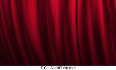 toneel, rood gordijn, theater, achtergrond