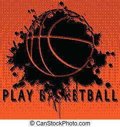 toneelstuk, basketbal