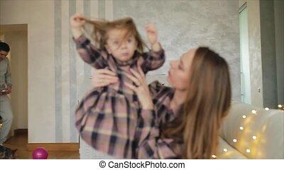toneelstukken, dochter, mamma, haar