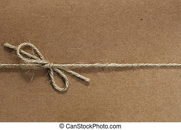 touwtje, gebonden, papier, gerecyclde