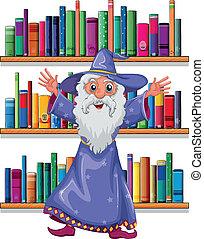 tovenaar, bibliotheek