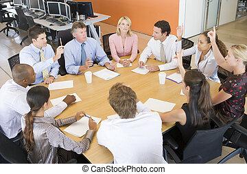 traders, vergadering, liggen