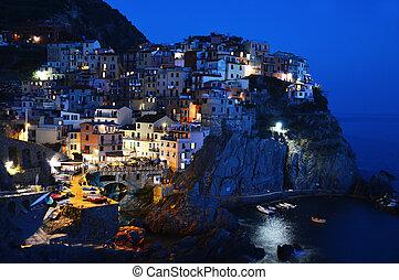 traditionele , middellandse zee, manarola, italië, architectuur