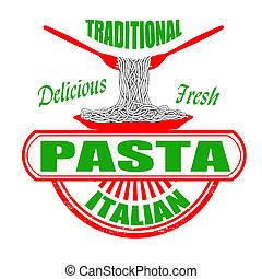 traditionele , pasta, postzegel
