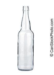 transparant, fles, lege, bier