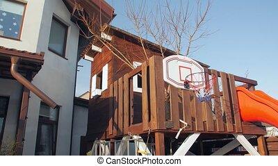 treehouse, werf, kinderen