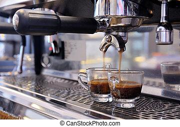 treft voorbereidingen, espresso