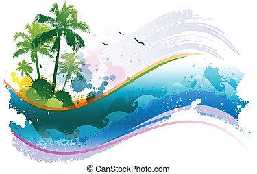 tropische , abstract, achtergrond