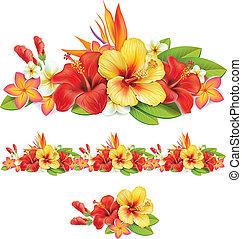 tropische bloemen, guirlande