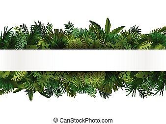 tropische , ontwerp, floral, foliage.