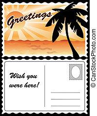 tropische , postkaart, landscape