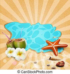 tropische , vector, spandoek