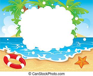 tropische , zomer, spandoek