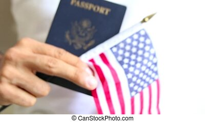 trots, paspoort, american., ons