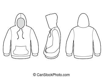 trui, vector, hooded, illustration.