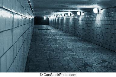 tunnel, stad, stedelijke