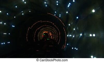 tunnel, vertragen, bund, bund, shanghai, sluiter, china, snelheid, sightseeing