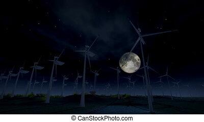 turbine, (1277), energie, wind, elektrisch