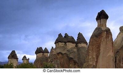turkije, natuur, mirakel, 2, cappadocia, elfje, vakantie, toerisme, schoorsteen