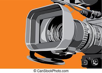 tv fototoestel, studio