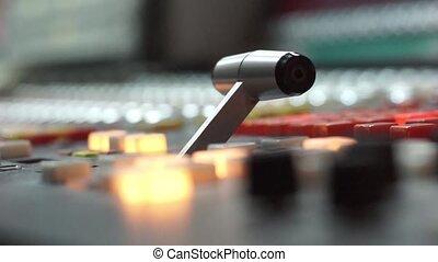 tv, uitrusting, radiouitzending