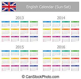 type-1, 2013-2016, kalender, engelse