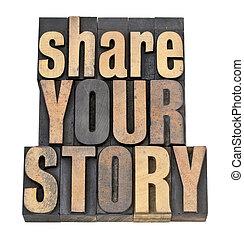 type, verhaal, hout, aandeel, jouw