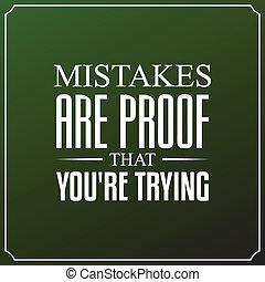 u bent, typografie, citaten, fouten, ontwerp, achtergrond, trying., bewijs
