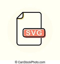 uitbreiding, formaat, svg, kleur, bestand, lijn, pictogram