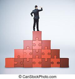 uitdaging, concept, bewindvoering