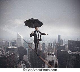 uitdagingen, leven, risico's, zakelijk