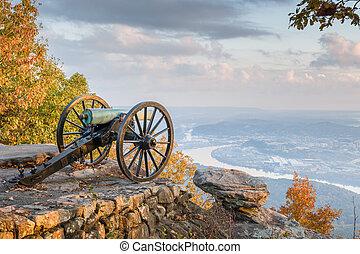 uitkijkpost, tennessee, berg overzicht, usa, chattanooga