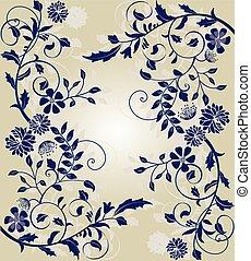 uitnodigingskaart, trouwfeest, floral ontwerpen, ouderwetse