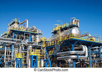 uitrusting, industrie, olie, installatie