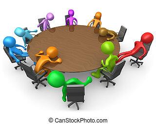 uitstoten, vergadering