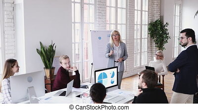 uitvoerend, werknemer, het roemen, indiër, leider, jonge, brainstorming, directeur, meeting.