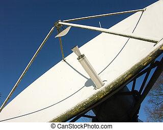 uitzenden, schaaltje, satelite