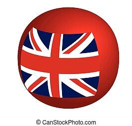 unie, bol, vlag, vrijstaand