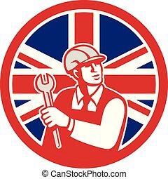 unie, brits verslappen, dommekracht, ingenieur, pictogram