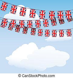 unie, gors, vlaggen, dommekracht