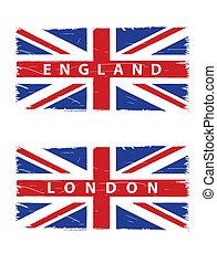 unie, grunge, vlaggen, dommekracht