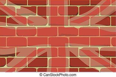 unie, muur, verstoven, dommekracht