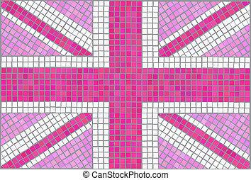 unie, roze, dommekracht