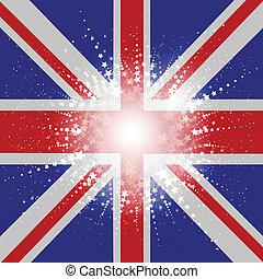 unie, starry, vlag, dommekracht, achtergrond