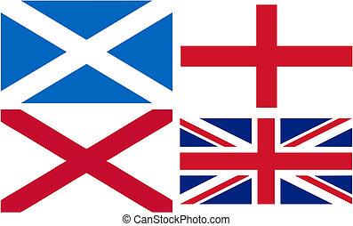 unie, vervaardiging, vlag, dommekracht