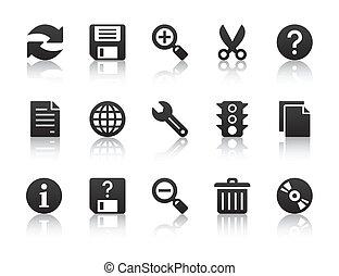 universeel, software, iconen