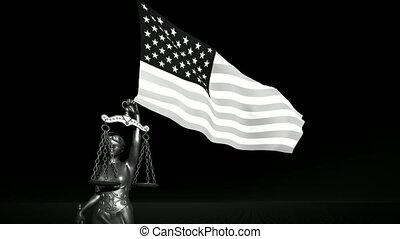 usa, symbool, samenstelling, justitie, theism, achtergrond, schub, vlag