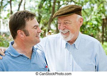 vader & zoon, gelach