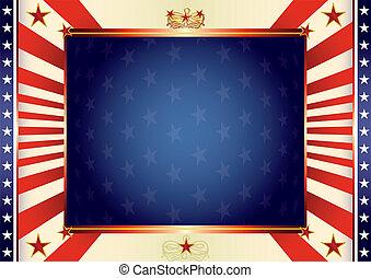 vaderlandslievend, amerikaan, achtergrond