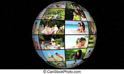 vakantie, 3d animatie, gezin